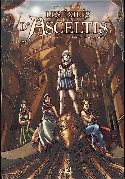 """Couverture """"Les Exilés d'Asceltis"""" tome 1"""