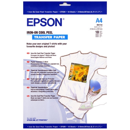 Epson s041154 papel a4 transferencia textil 10 hojas en - Papel de transferencia textil ...