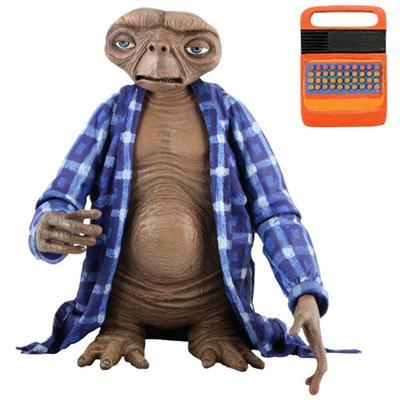 Merchandising E.T. El Extraterrestre -- E.T. solo en casa, vestido con camisa y con comunicador