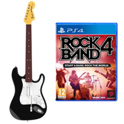 how to connect guitar to rock band 4 ps4