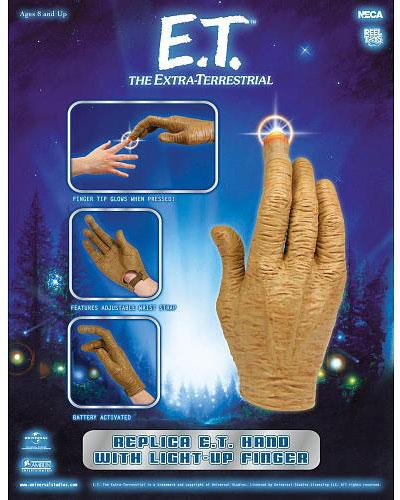 Merchandising E.T. El Extraterrestre -- Guante Mano con dedo luminoso de E.T.