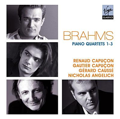 Brahms piano cuartetos 1-3/R. Capuçon,G.Capuçon, g.Caussé, N.Angelich/Erato 5099951931025
