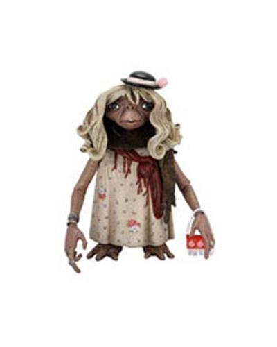 Merchandising E.T. El Extraterrestre -- Disfrazado con vestido de mujer y con peluca