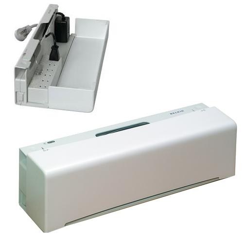 Regleta belkin de 6 tomas con caja para ocultar cables en - Regleta para cables ...