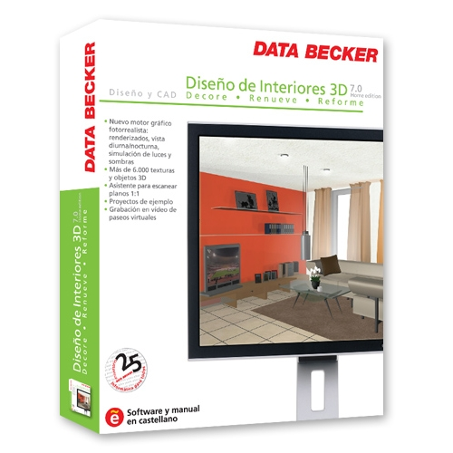 Dise o de interiores 3d 7 dx home edition pc en for Diseno interiores 3d