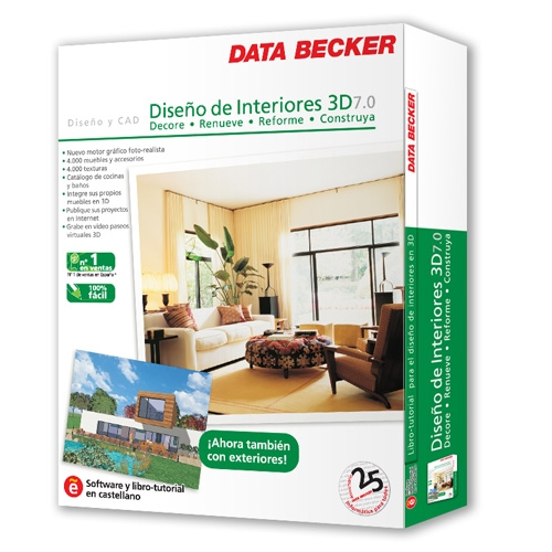 Dise o de interiores 3d 7 0 pc en comprar dvd rom for Diseno interiores 3d