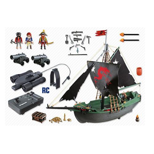 Playmobil pirates barco pirata con motor submarino rc for Barco pirata playmobil