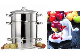baumalu lot extracteur de jus inox 25 cm et p le pomme achat prix fnac. Black Bedroom Furniture Sets. Home Design Ideas