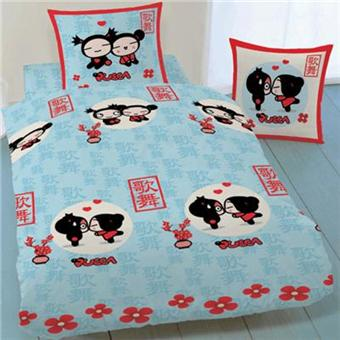 parure de lit pucca kiss kiss 2 places achat prix fnac. Black Bedroom Furniture Sets. Home Design Ideas