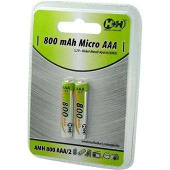 piles rechargeables 800 mah nimh type aaa lr03 1 2v piles