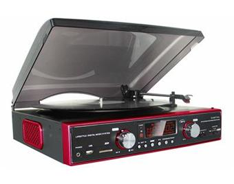tourne disque radio usb sd encodeur rouge achat prix fnac. Black Bedroom Furniture Sets. Home Design Ideas