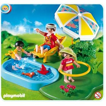 Playmobil 4140 compactset famille et piscine achat for Prix piscine playmobil