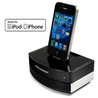 Metronic station d 39 accueil tv hifi pour iphone et ipod meilleur prix - Station accueil iphone ...