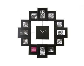 cadre photo horloge family time noir top prix fnac. Black Bedroom Furniture Sets. Home Design Ideas