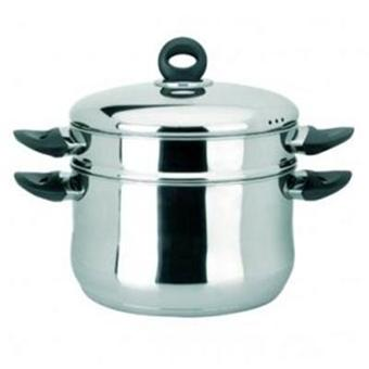 ibili ustensiles et accessoires de cuisine cuit vapeur couscoussier inox 6611 24 1. Black Bedroom Furniture Sets. Home Design Ideas