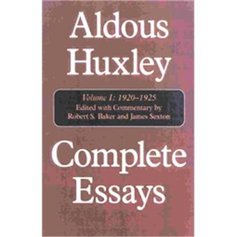 Aldous Huxley's stories, essays, & poems.
