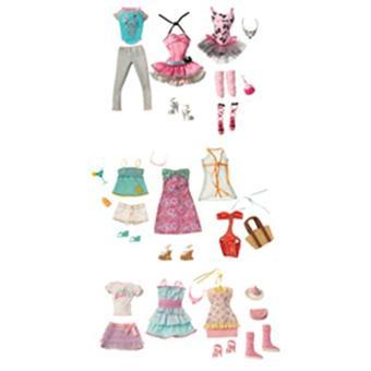 mattel accessoires barbie barbie 3 tenues loisir assortiment achat prix fnac. Black Bedroom Furniture Sets. Home Design Ideas