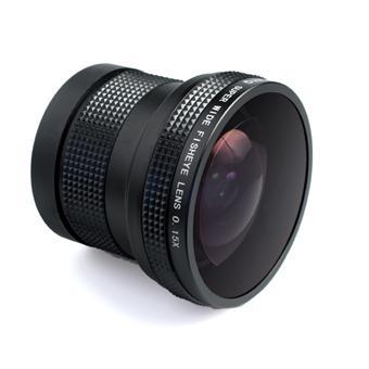 Objectif fisheye 0 15x pour reflex nikon for Objectif a miroir pour nikon