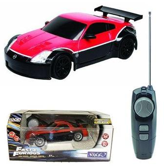 voiture radiocommand e nikko fast and furious 4 nissan 350 z 1 22 rouge achat prix. Black Bedroom Furniture Sets. Home Design Ideas