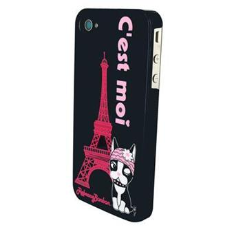 coque rigide hoshi noire pour iphone 4 4s occasion. Black Bedroom Furniture Sets. Home Design Ideas