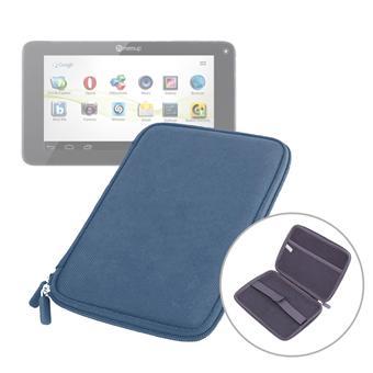 etui coque bleu rigide de protection pour tablette memup. Black Bedroom Furniture Sets. Home Design Ideas
