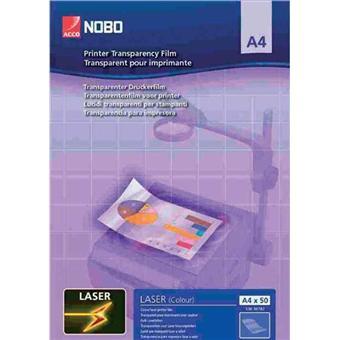nobo transparent a4 pour imprimante laser couleur pp. Black Bedroom Furniture Sets. Home Design Ideas