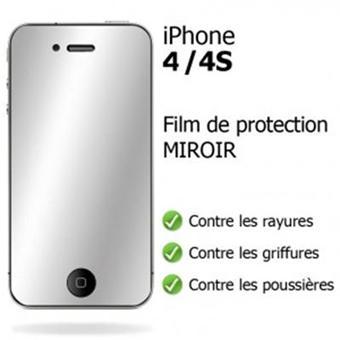 film protection cran iphone 4 4s effet miroir achat prix fnac. Black Bedroom Furniture Sets. Home Design Ideas