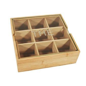 Boite th do it d co 9 compartiments bambou achat prix fnac - Boite a the 9 compartiments ...