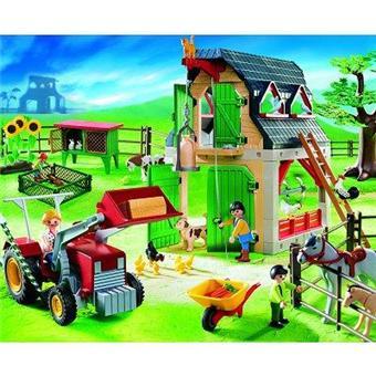 playmobil 4066 ferme avec tracteur acheter sur. Black Bedroom Furniture Sets. Home Design Ideas