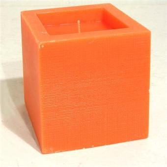 bougie manulena bougie d co cube orange 9x9x9cm achat prix fnac. Black Bedroom Furniture Sets. Home Design Ideas