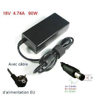 Adaptateur secteur Chargeur pour PC Portable HP 19V 4.74A / 90W
