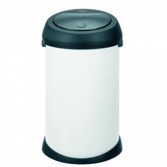 poubelle touch bin 50 l blanc et noir achat prix fnac. Black Bedroom Furniture Sets. Home Design Ideas