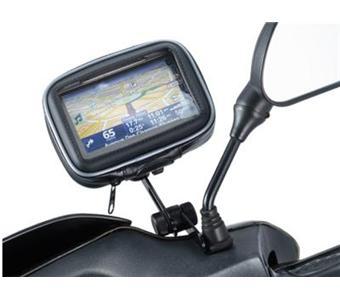 support pour scooter moto mobylette avec tui de protection pour gps cran 3 5 pouces. Black Bedroom Furniture Sets. Home Design Ideas