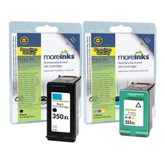moreinks 2 cartouches d 39 encre compatibles noir et tri couleur pour imprimante hp officejet. Black Bedroom Furniture Sets. Home Design Ideas