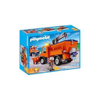 Playmobil 4046 le chantier chauffeur avec camion - Playmobil camion chantier ...