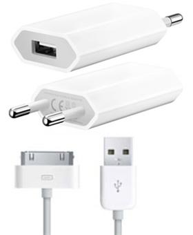 adaptateur secteur usb voyage iphone achat prix fnac. Black Bedroom Furniture Sets. Home Design Ideas