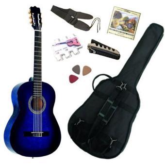 pack guitare classique 4 4 avec 5 accessoires neuve garantie bleue top prix fnac. Black Bedroom Furniture Sets. Home Design Ideas