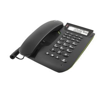 comfort 3005 t l phone filaire avec r pondeur et identification de l 39 appelant noir achat. Black Bedroom Furniture Sets. Home Design Ideas