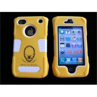 coque iphone 4 rigide int grale jaune incassable film protection cran offert achat prix. Black Bedroom Furniture Sets. Home Design Ideas