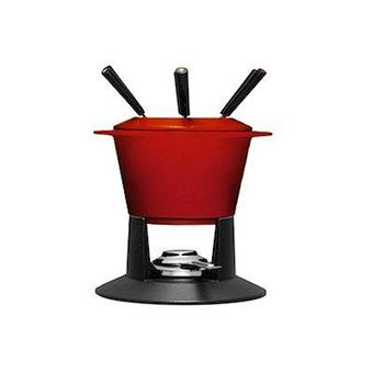 le creuset service fondue ovale gourmande cerise achat prix fnac. Black Bedroom Furniture Sets. Home Design Ideas