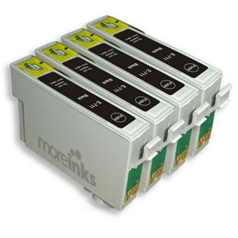 moreinks 4 cartouches d 39 encre compatibles noir pour imprimante epson stylus dx7450 achat. Black Bedroom Furniture Sets. Home Design Ideas