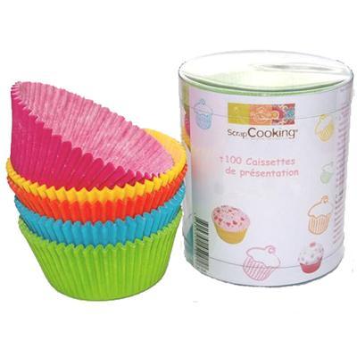 Image du produit ScrapCooking® - Moule en papier décoratif - Caissettes papier cupcakes : Assorties x100
