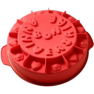 Image du produit ScrapCooking® - Moule silicone - Bon anniversaire - 26 cm - Rose