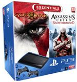 Console PS3 Ultra Slim 12 Go Sony ? Console Playstation 3 Sony + God of War 3 + Assassin's Creed Brotherhood
