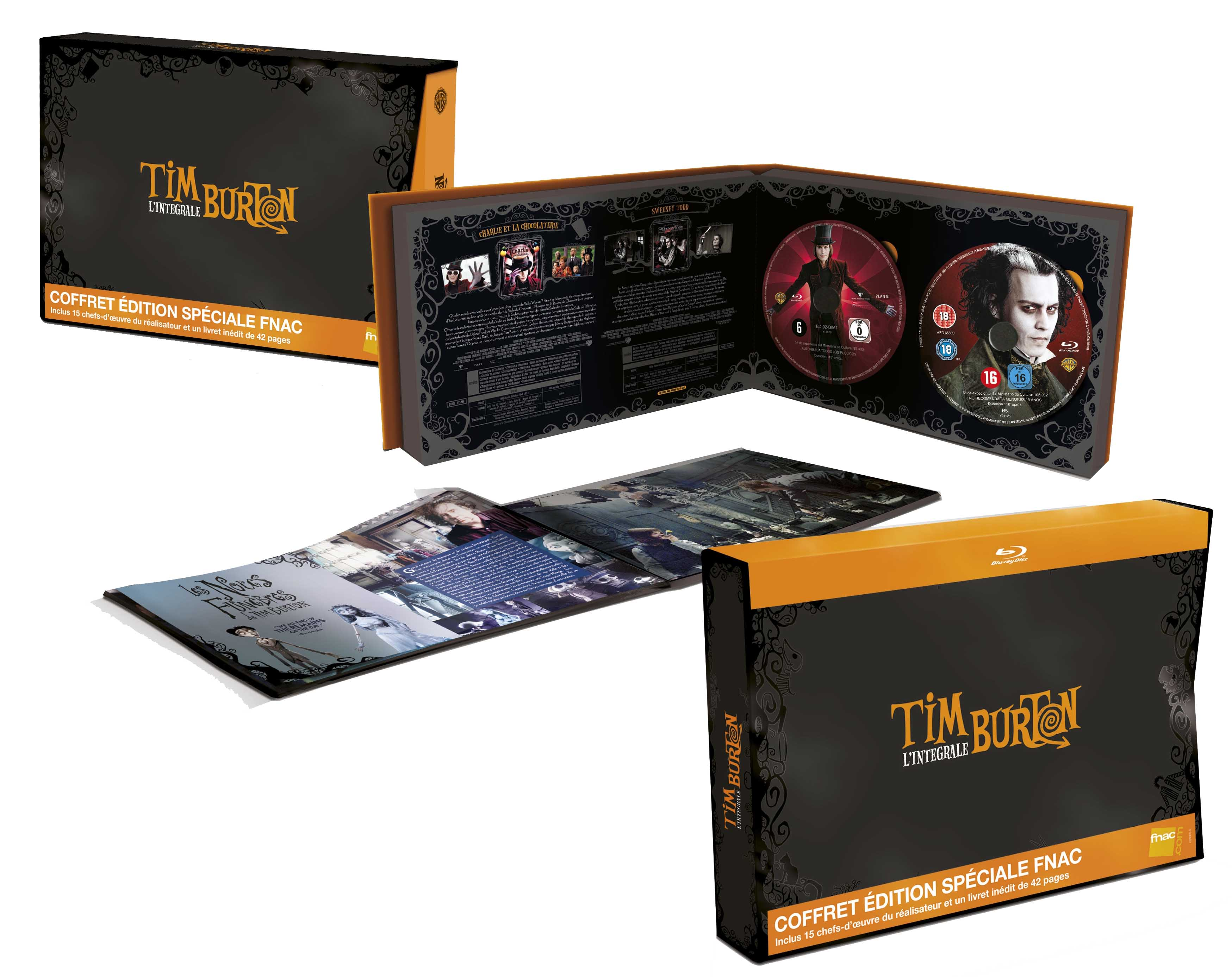 int grale tim burton 14 bd 1 dvd dvdclassik cin ma et dvd. Black Bedroom Furniture Sets. Home Design Ideas