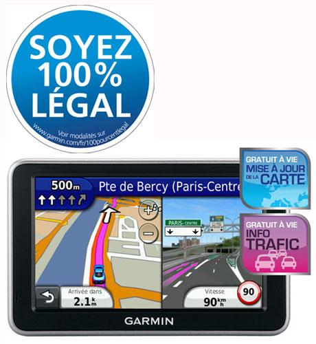 GPS Garmin nüvi 2460LMT - Europe + Gratuit à vie : mise à jour de la carte