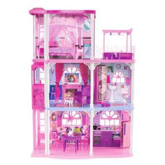 Barbie accessoires barbie fabuleuse maison rose for Accessoires maison barbie