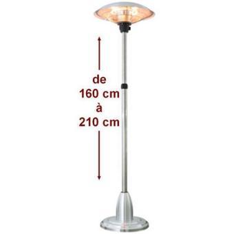 parasol chauffant lectrique 2100 w milan r tractable achat prix fnac. Black Bedroom Furniture Sets. Home Design Ideas