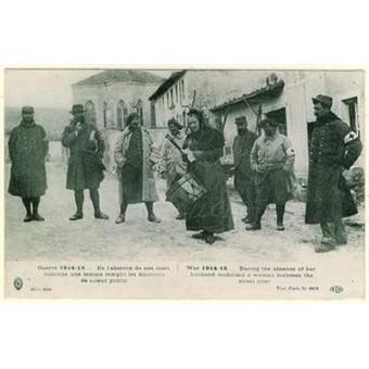 Meuse jouy sous les cotes en l 39 absence de son mari femme crieur public carte postale - Femme morte sous les coups de son mari ...