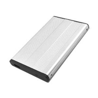 boitier pour disque dur ide 2 5 en aluminium avec housse connexion usb 2 0 argent achat. Black Bedroom Furniture Sets. Home Design Ideas
